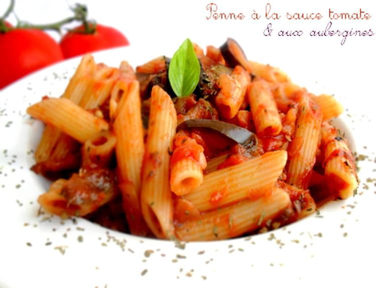 Recette de penne la sauce tomate et aux aubergines la - Cuisiner l aubergine facile ...