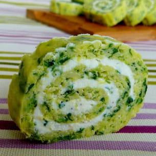 roulés apéro épinards-wasabi et fromage de chèvre