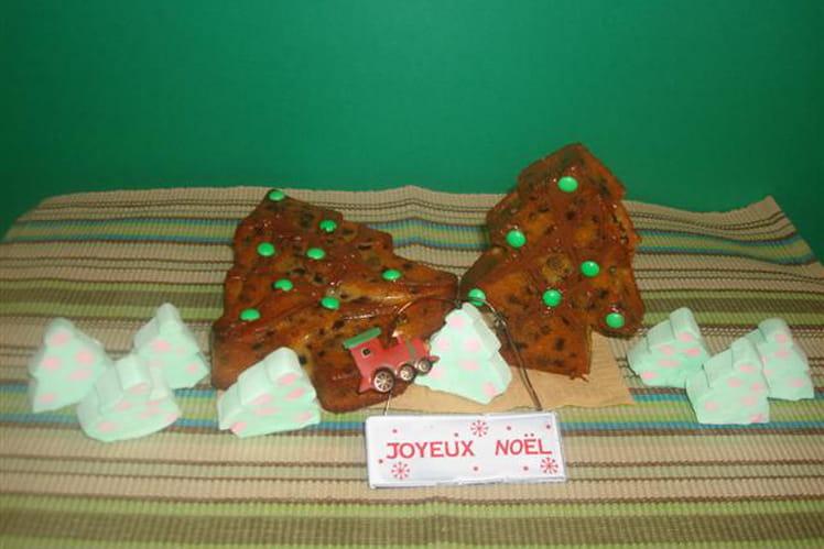 Sapins de Noël au jus de clémentine et pépites de chocolat