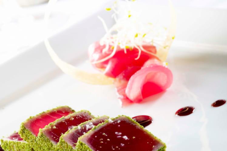 Recette De Dos De Thon Micuit à La Chapelure De Persil Gelée De - Cuisiner du thon rouge