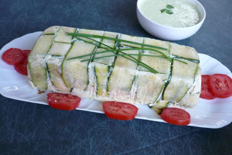 Terrine aux deux poissons et ses légumes, sauce verte
