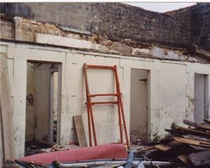 la terrasse de nicole avant les travaux