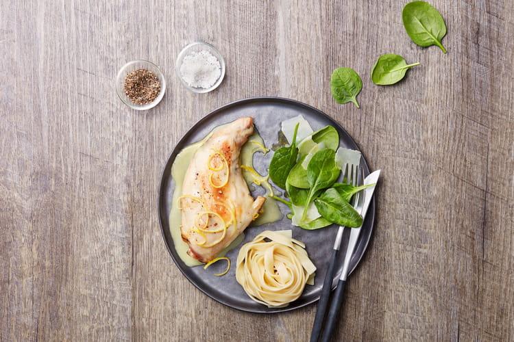 Cuisse de lapin au citron et parmesan