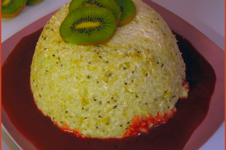 Gâteau de riz au kiwi