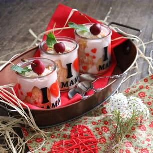 bavarois fraises et coquelicots version mini