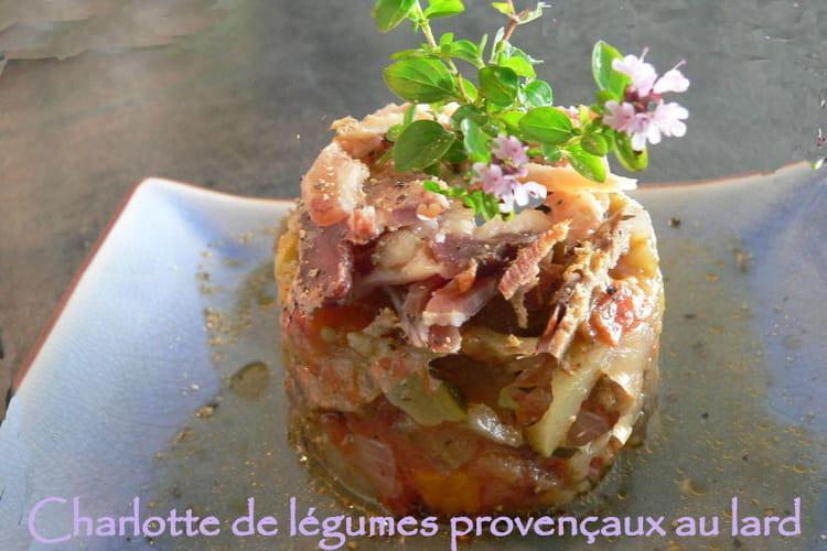 Charlotte de légumes Provençaux au lard