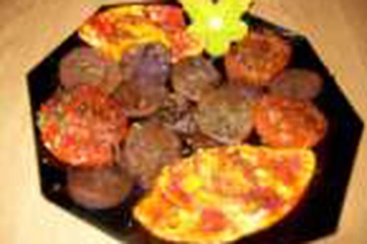 Pommes de terre vitelottes aux oeufs