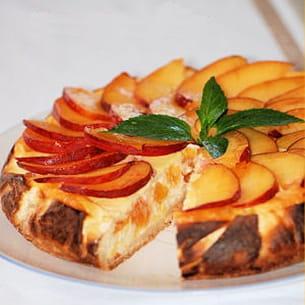 cheesecake aux pêches