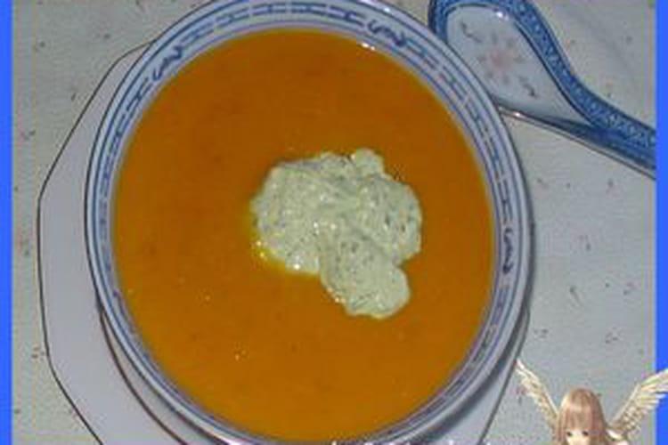 Petite soupe multi légumes et sa crème gourmande