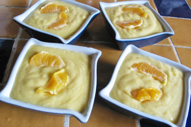 Crème mousseuse à l'orange