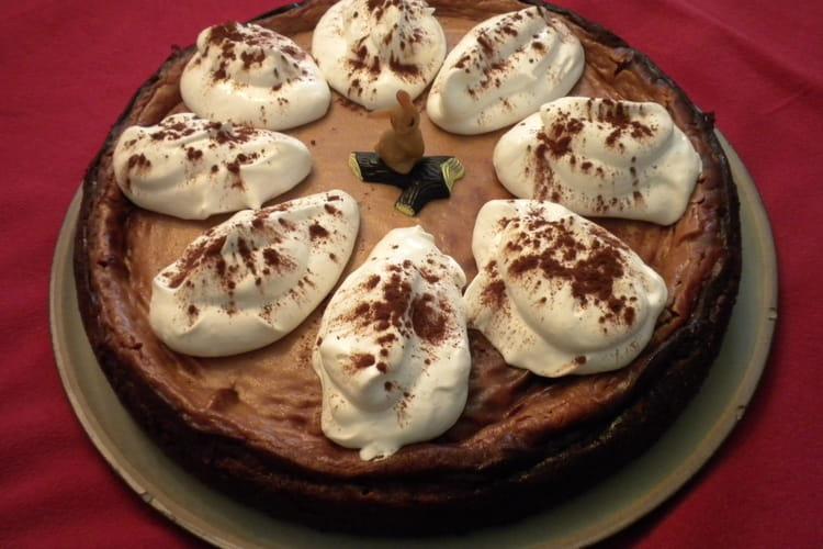 Gâteau au fromage blanc et chocolat