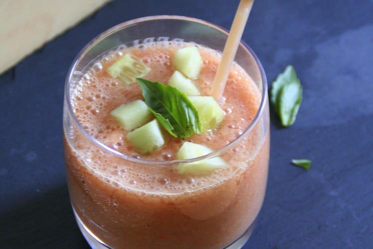 Gaspacho léger tomate basilic