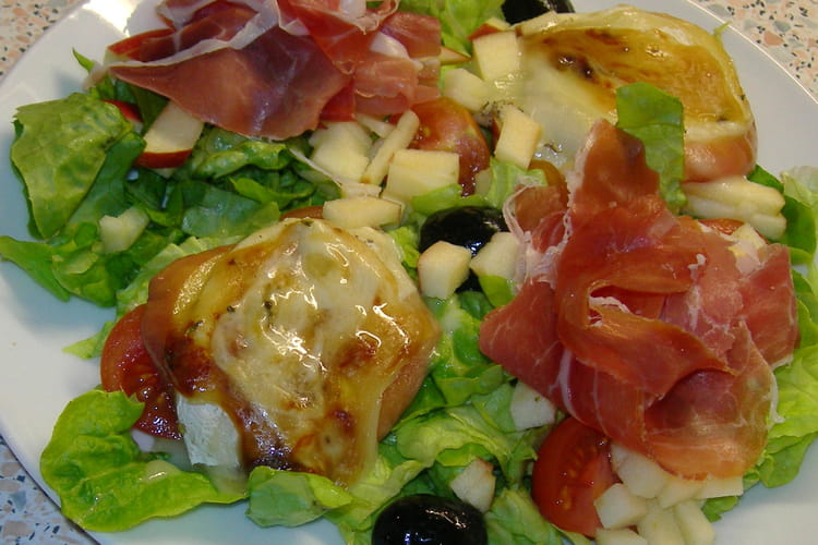 Salade au rocamadour