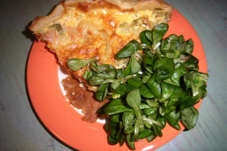 Quiche brocoli et saumon