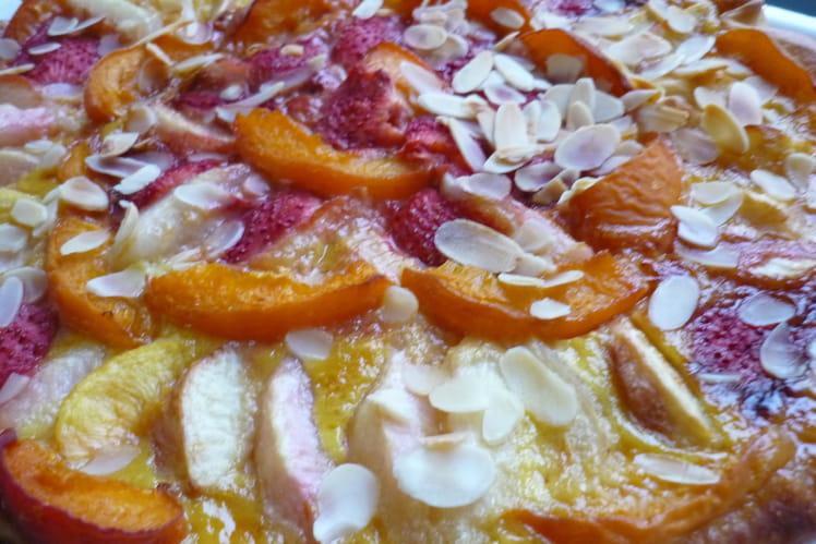 Pizza sucrée aux fruits d'été