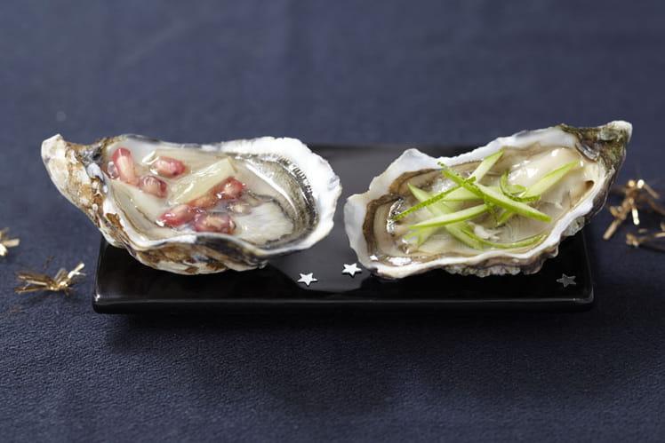 Duo coloré d'huîtres Arcachon Cap-Ferret