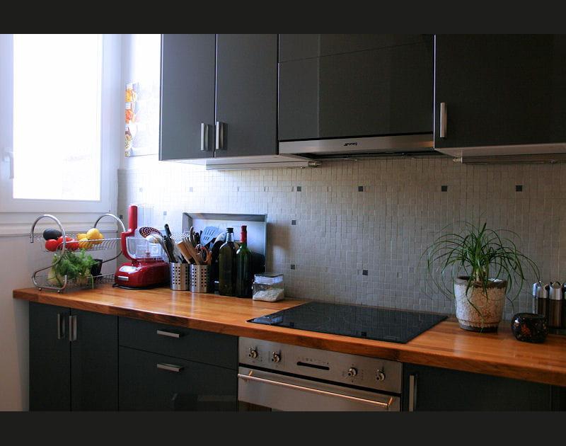 Une cuisine toute en longueur...