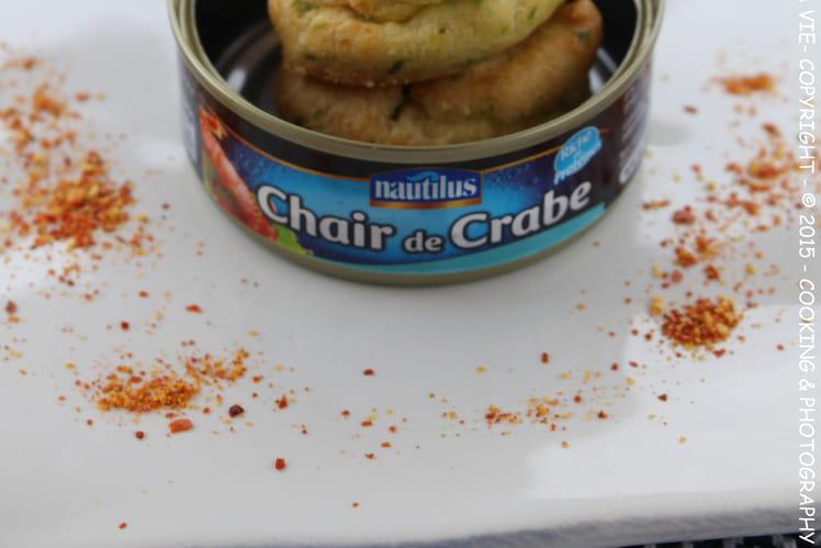 Gougères au crabe et piment d'espelette