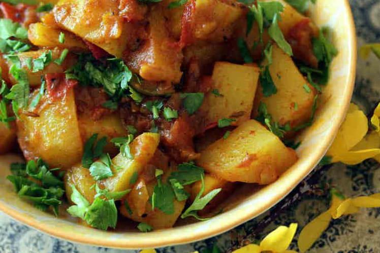 Pommes de terres à l'indienne Aloo Bombay