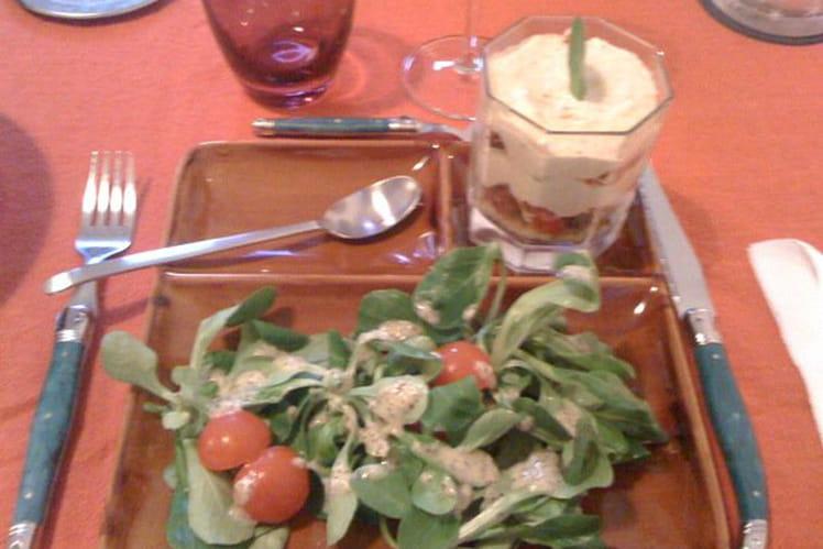 Tiramisu salé aux tomates séchées