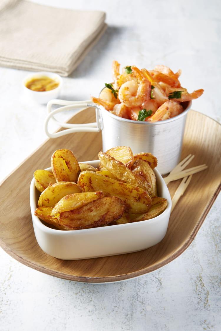 Recette de ratte du touquet saut es aux crevettes et la coriandre la recette facile - Cuisiner la ratte du touquet ...