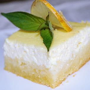 carrés sablés à la ricotta au citron