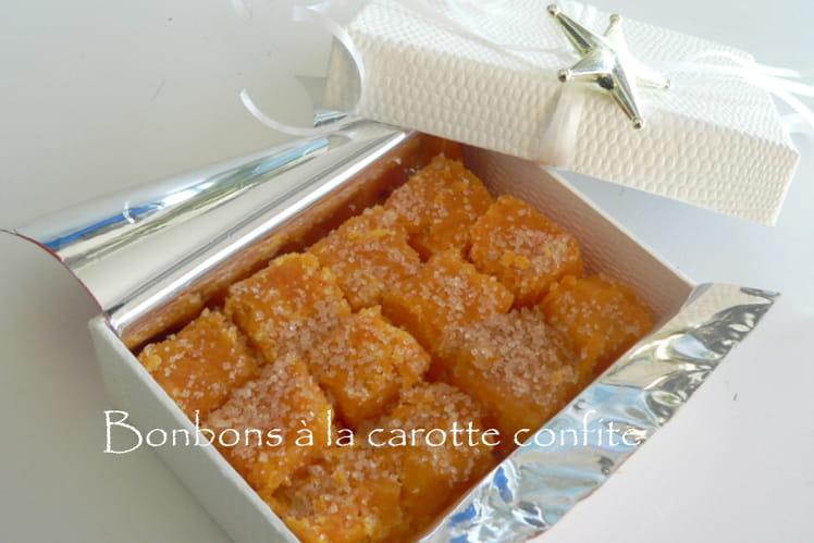 Bonbons à la carotte confite