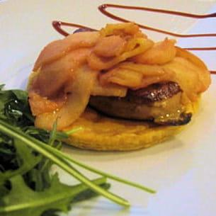tatin de foie gras poêlé