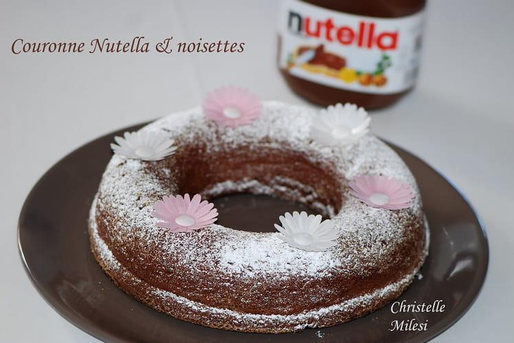 Couronne Nutella & noisettes