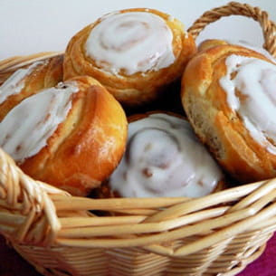 escargots fourrés à la crème pâtissière