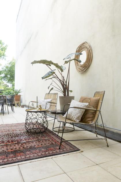 Salon de jardin minimaliste et dans l'air du temps