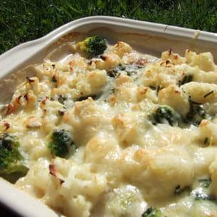gratin chou-fleur et brocoli