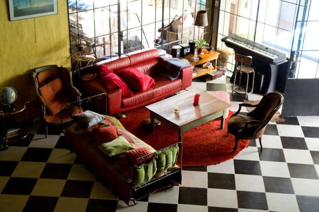 Salon cosy et vibrant