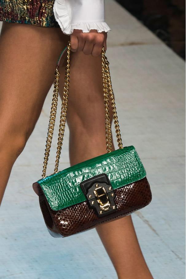 Le sac à main bicolore du défilé Dolce & Gabbana