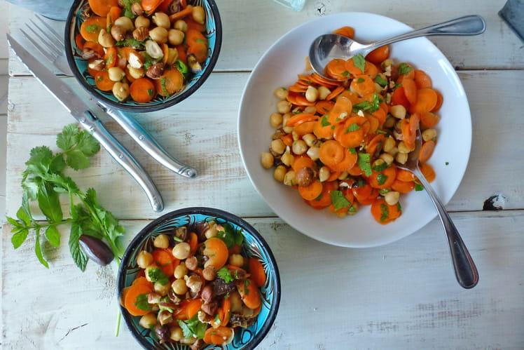 Salade croquante de carottes et pois chiches