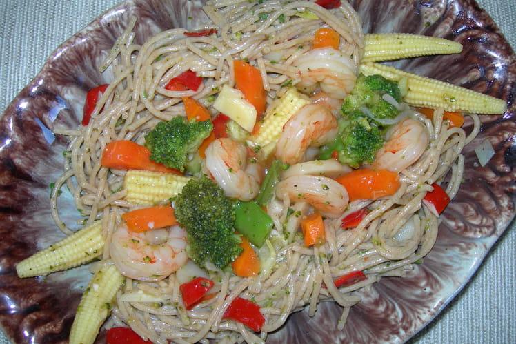 Spaghettis aux nuances savoureuses