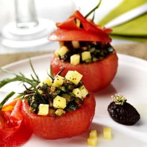 tomate surprise, ratatouille de comté