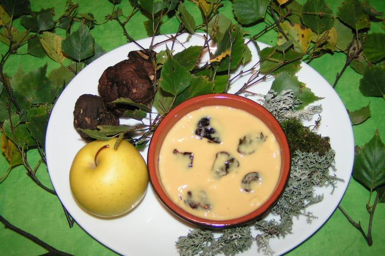 Dessert d'automne aux cèpes caramélisés