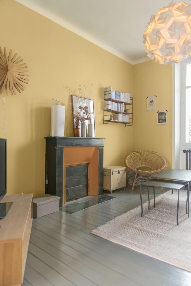 Peinture ondi pur velours miel de zolpan - Exemple peinture salon ...