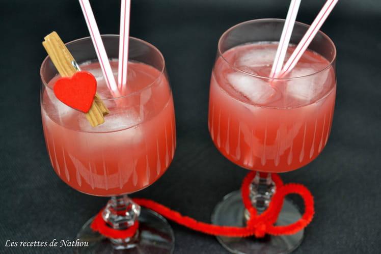 Cocktail rouge passion Saint-Valentin