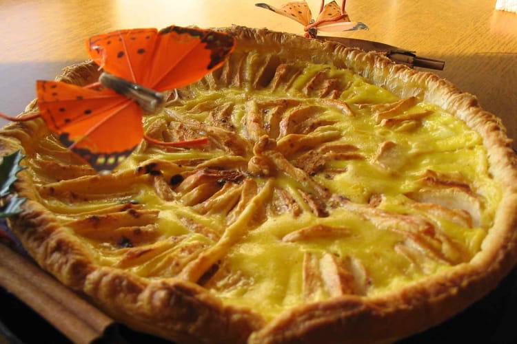 Tarte aux pommes citronnée