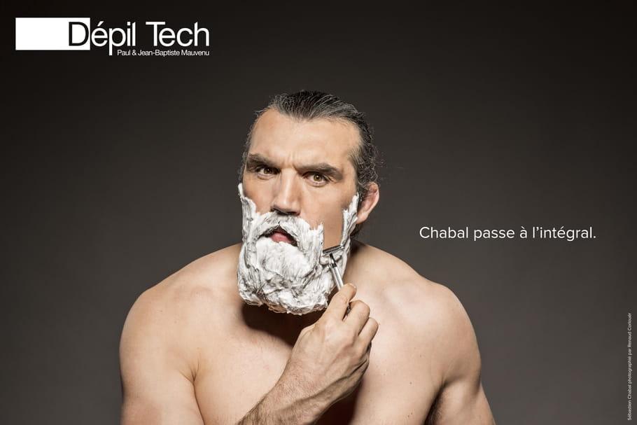 Sébastien Chabal est le nouveau visage de Dépil Tech