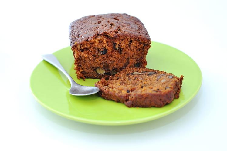 Carrot cake à la compote de pomme, noix et raisins secs