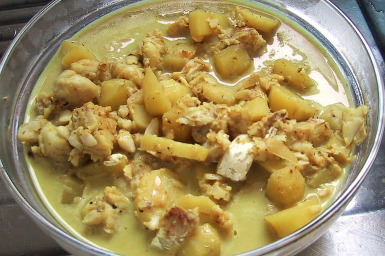 Curry de poisson au lait de coco