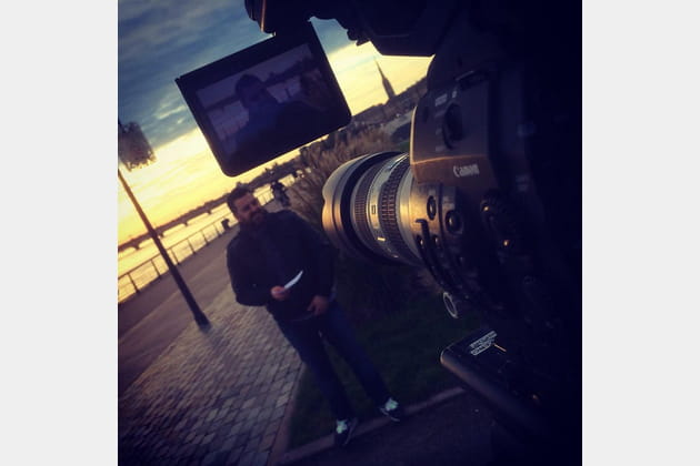 Jonathan Blot, en tournage