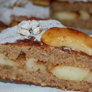 fondant aux noix et aux pommes