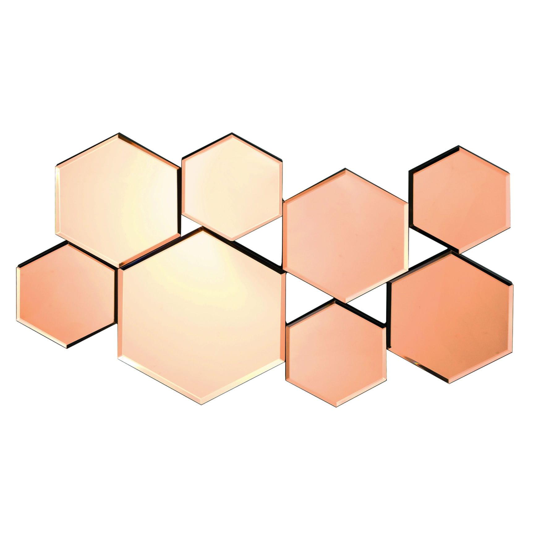 Miroir hexa de conforama for Miroir hexagonal cuivre