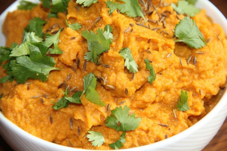 Houmous de carottes rôties à l'orange