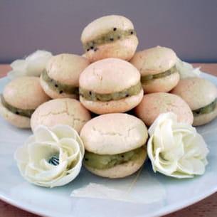 macarons noix de coco et kiwi