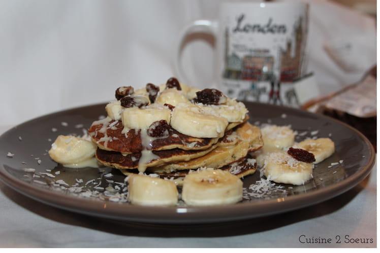 Pancakes healthy à la noix de coco